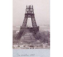 tour eiffel 14 octobre 1888 Photographic Print