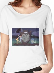My Neighbour Totoro scene Women's Relaxed Fit T-Shirt