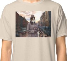 Australian Shepherd Art - Meeting after work Classic T-Shirt