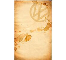 VW Coffee Stained Photographic Print