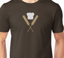 baker chef hat with wheat  Unisex T-Shirt