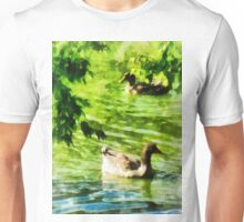 Ducks on a Tranquil Pond Unisex T-Shirt