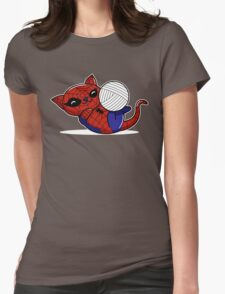Spider Kitty Womens Fitted T-Shirt