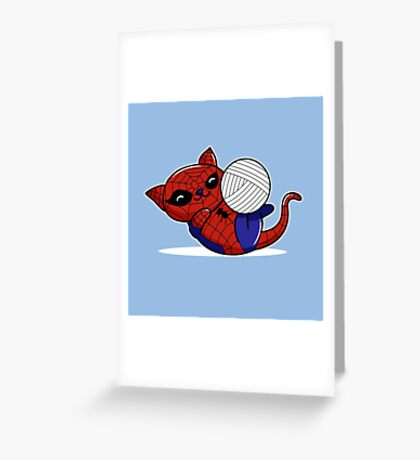 Spider Kitty Greeting Card