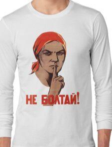 Soviet Treason Poster Long Sleeve T-Shirt