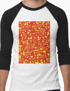 Mazetract Blocks Men's Baseball ¾ T-Shirt