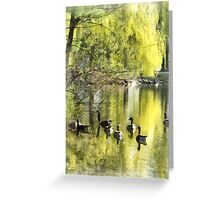 Geese by Willow Greeting Card