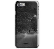 Snowy night in Borås, Sweden #2 iPhone Case/Skin