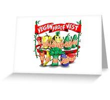 Vegan Proof Vest 3 Greeting Card