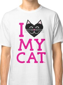 I love my cat! (pink letters) Classic T-Shirt