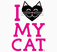 I love my cat! (pink letters) Women's Relaxed Fit T-Shirt