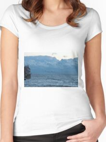 Starlings at Dusk Women's Fitted Scoop T-Shirt