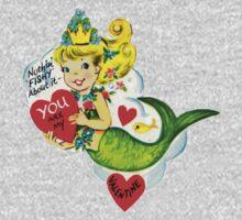 Vintage Valentine Mermaid One Piece - Short Sleeve