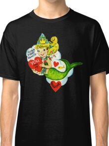 Vintage Valentine Mermaid Classic T-Shirt
