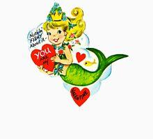 Vintage Valentine Mermaid Unisex T-Shirt