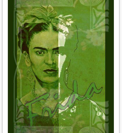 Frida Kahlo - between worlds Sticker