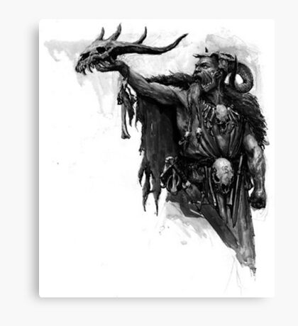 skull's wizard Canvas Print