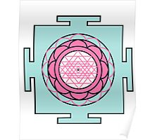 Yantra - cosmic conductor of energy. Yantra Sree . Sacred Geometry Poster
