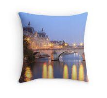 River Seine Paris Throw Pillow