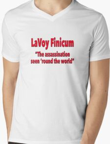 """LaVoy Finicum """"The assassination seen 'round the world"""" Mens V-Neck T-Shirt"""