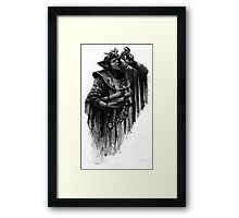 man with parchment Framed Print