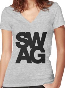 SWAG Women's Fitted V-Neck T-Shirt