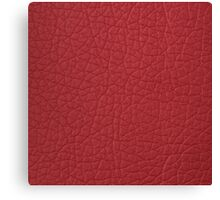 Red leather  Canvas Print