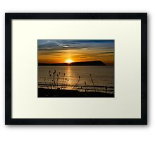 Sunset at Newport Beach Framed Print