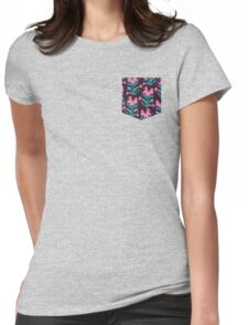 Piranha Plant Faux Pocket Womens Fitted T-Shirt
