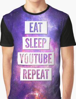 Eat Sleep YouTube Repeat Graphic T-Shirt
