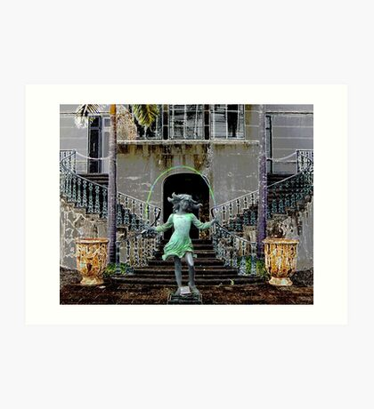 Ghost in a Madeira Mansion Art Print