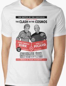 Captain vs. Captain Mens V-Neck T-Shirt