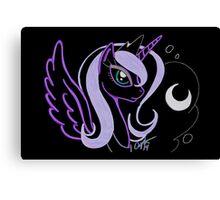 Neon Luna Canvas Print