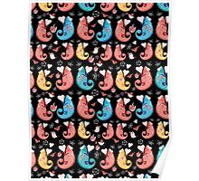 beautiful pattern love chameleons Poster