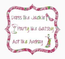 Lilly Pulitzer Inspired Jackie Gatsby Audrey Quote - First Impression Kids Clothes