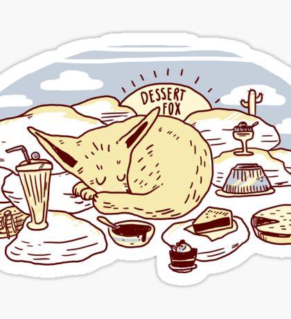 Dessert Fox Sticker