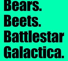 Bears Beets Battlestar Galactica (Black) by BetterExistence