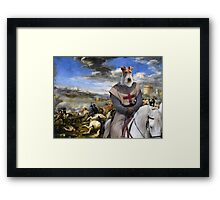Wire Fox Terrier Art - Scene with infantry Cavalry Framed Print