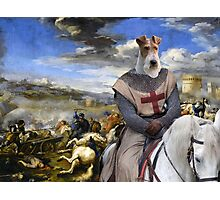 Wire Fox Terrier Art - Scene with infantry Cavalry Photographic Print