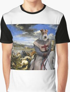 Wire Fox Terrier Art - Scene with infantry Cavalry Graphic T-Shirt