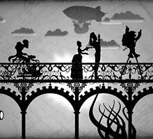 Steampunk Walking Bridge by StudioComicKaze
