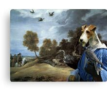 Wire Fox Terrier Art - Falconers Canvas Print