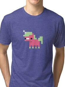 Pixel Art Unicorn Sweet Tri-blend T-Shirt