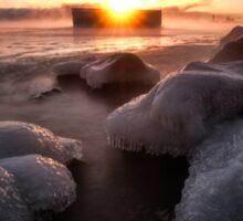 Cold Lake Superior Morning  Sticker