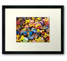 Pokemon plushies  Framed Print