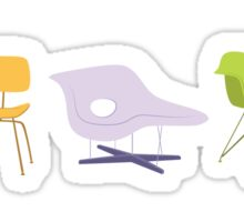 Ray & Charles Eames Chairs Classic Design Sticker