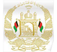 National Emblem of Afghanistan  Poster