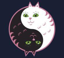 Cute cats yin yang  Kids Tee