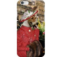 Wire Fox Terrier Art - A  Purchase Of Flowers iPhone Case/Skin
