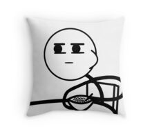 Cereal Guy Interested | Meme Throw Pillow
